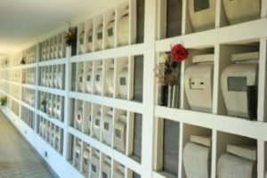 Burial Options: A columbarium is a wall of niches that hold urns containing ashes of the deceased.